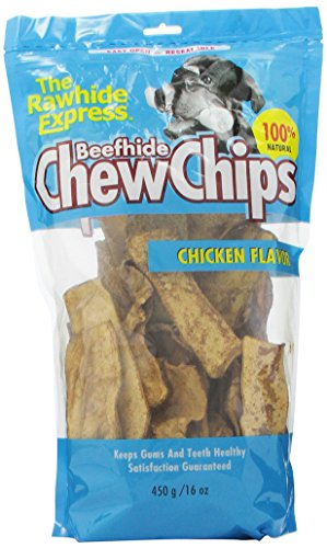 The Rawhide Express Chicken Flavored Strips/Chips Dog Chew, 1-Pound by The Rawhide Express