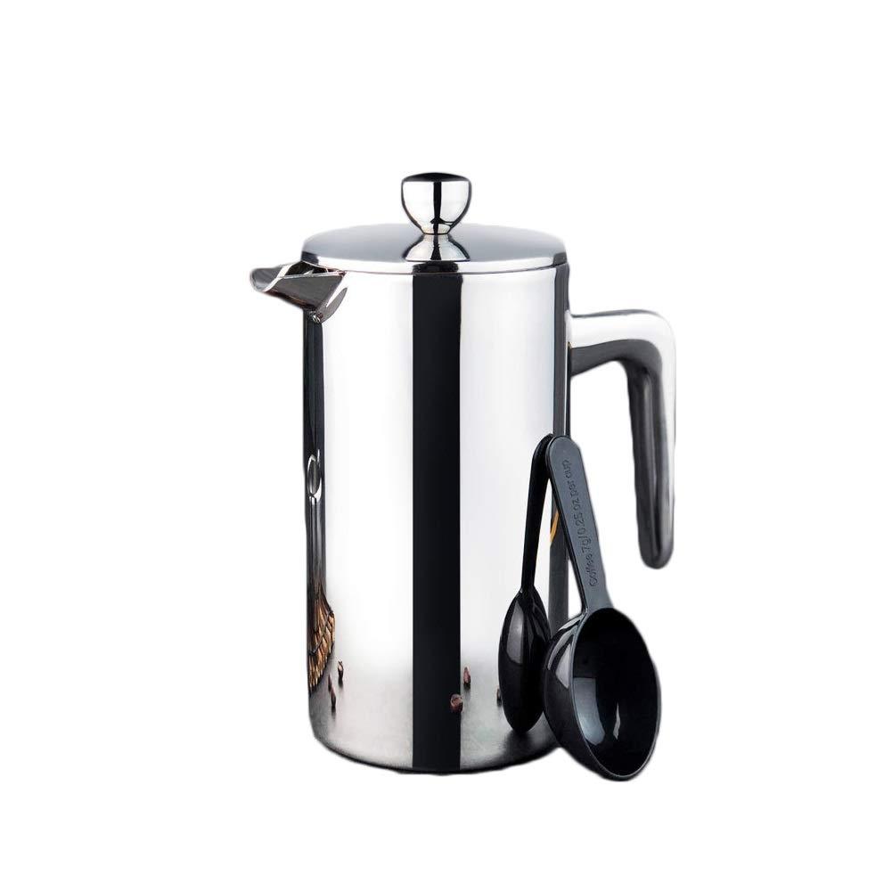 Acquisto Zhangcaiyun-Home Caffettiera Caffettiera a Pressione Caffettiera ad Alta Temperatura Caffettiera Caffettiera in Acciaio Inossidabile Caffettiera Espresso per (Capacity : 800cc) Prezzi offerta