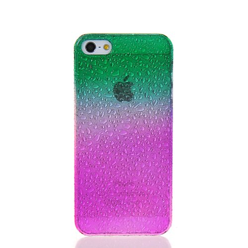 MOONCASE Waterdrop Crystal Raindrop Style Hard Back Case Cover With Screen Protector for Apple iPhone 5 5G Greenhotpink