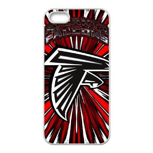 Atlanta Falcons Team Logo coque iPhone 4 4S Housse Blanc téléphone portable couverture de cas coque EBDOBCKCO14484