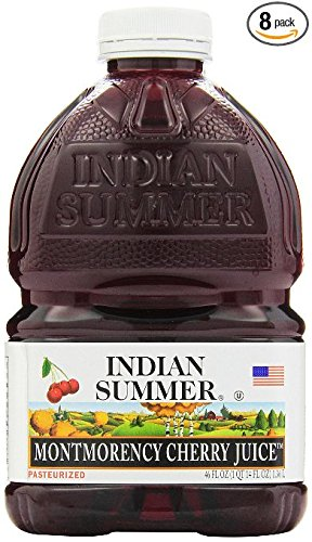 Indian Summer 100% Juice, Montmorency Cherry, 46-Ounce Containers (Pack of 8)