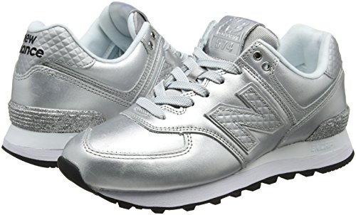 Gris New Mujer Para Silver Wl574nri metallic Balance Zapatillas Wl574nri grey IIwR6xqX