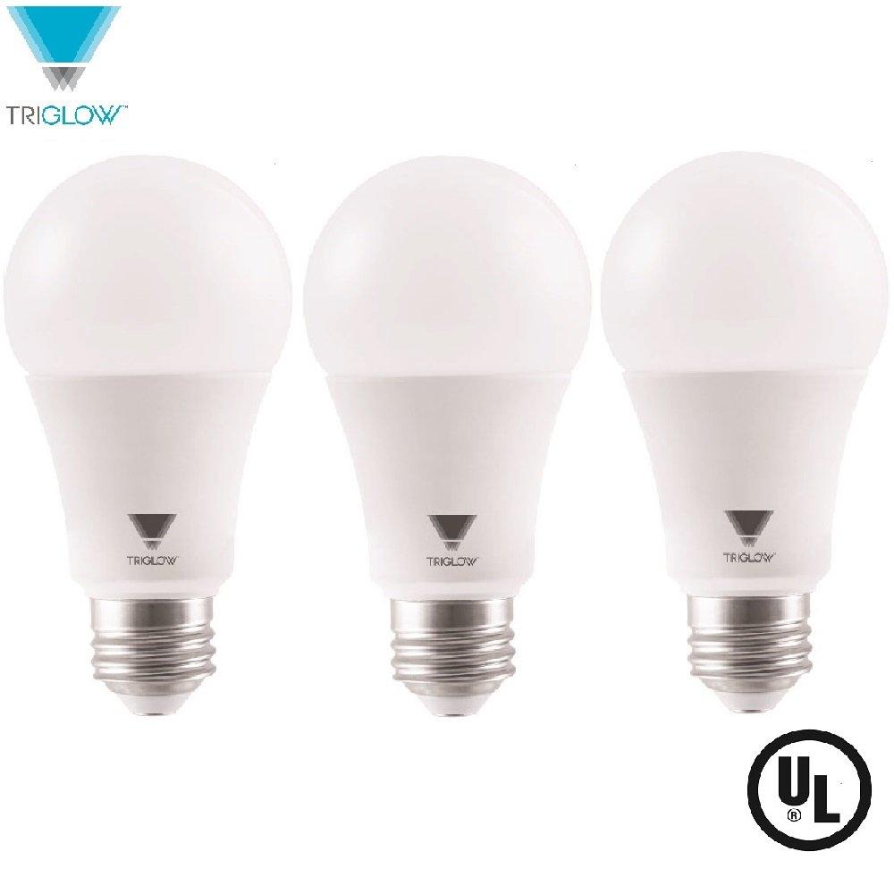 E26 Base UL Listed Led Light Bulbs 3-Pack TriGlow LED Light Bulbs 100 Watt Equivalent A19 LED Bulbs 3000K Soft White 1500 Lumens