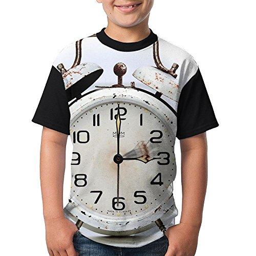 Shineshing Alarm Clock Design Teenager Boys Girls Short Sleeved Tee Clothing (Reviews On Sound Machines)