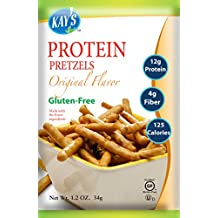 Kay's Naturals Gluten Free Protein Pretzels, Original, 1.2 Ounce (Pack of 6)