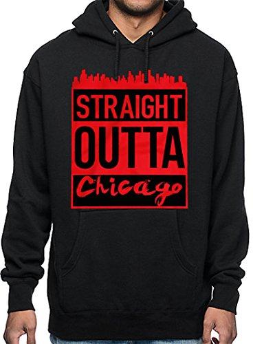 CaliDesign Men's Outta Chicago Hoodie Chiraq Windycity Chi Sweatshirt, 3X - XXXL - 3XL ()