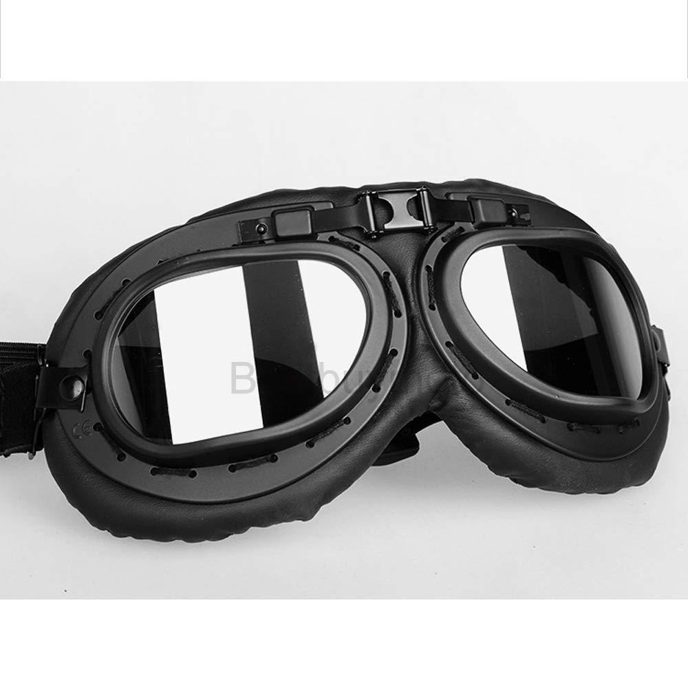 Universal Vintage Motorcycle Goggles Pilot Aviator Motorbike Scooter Biker Glasses Helmet Goggles Foldable for Harley