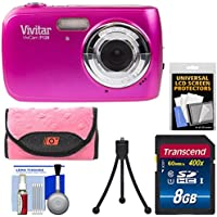 Vivitar ViviCam F126 Digital Camera (Pink) with 8GB Card...