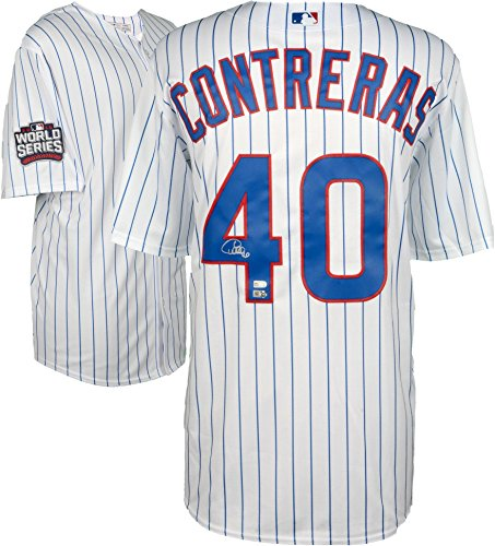 Willson Contreras Chicago Cubs 2016 MLB World Series Champions Autographed Majestic White Replica World Series Jersey - Fanatics Authentic Certified Chicago Cubs Autographed Majestic Jersey