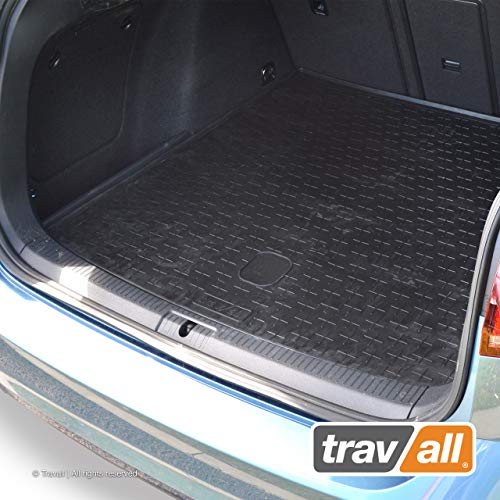 (Travall Liner Compatible with Volkswagen Golf Wagon (2013-Current) Also for Volkswagen Golf Alltrack (2015-Current) TBM1102 - All-Weather Black Rubber Trunk Mat Liner)