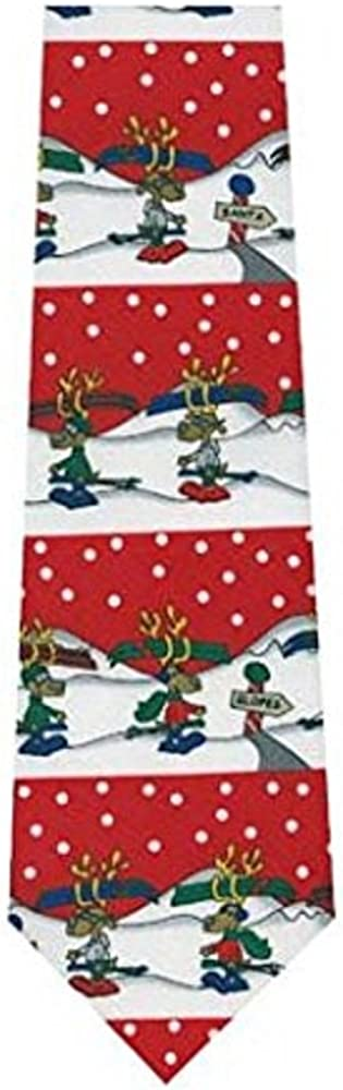 Parquet Youth Clip on Tie Reindeer Games 11 Red