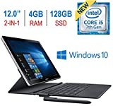 """El más nuevo Samsung Galaxy Book 2-en-1 12 """"Pantalla táctil Super AMOLED (2160x1440) Pantalla Tablet / PC, 7ma. Generación Procesador Intel i5-7200u 2.5GHz, 4 GB de RAM, 128GB SSD, Bluetooth, Teclado, S Pen, Windows 10"""