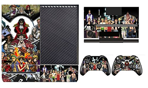 One Piece 275 Skin Sticker Cover Decal Protector for XBOX ONE Console Kinect and 2 controller skins