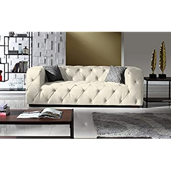 Amazon Com Divano Roma Furniture Large Tufted Real Leather