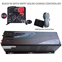 3000W Peak 9000W Pure Sine Wave Inverter Charger Low Frequency MabelStar PV Series Solar Inverter 120/240 Vac Output Split Phase DC 12V, Built-in with MPPT 60A Solar Charger Controller LCD Display