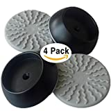 #8: Black Baby Gates Wall Pads (4 Pack Guard) Safety Indoor Gate Wall Protector - Improved Small Compact Wall Cups Saves Trim & Paint - Best Dog Pet Child Kid Walk Through Pressure Mounted Gates Guard