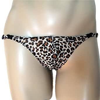 Groovin' Tiger Print Mesh Bikini Brief (Adjustable) ((F