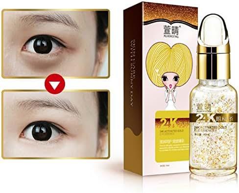 24K Gold Eye Serum Moisturizing 24K Gold Essence Serum Anti Wrinkle Anti Aging Collagen Foil