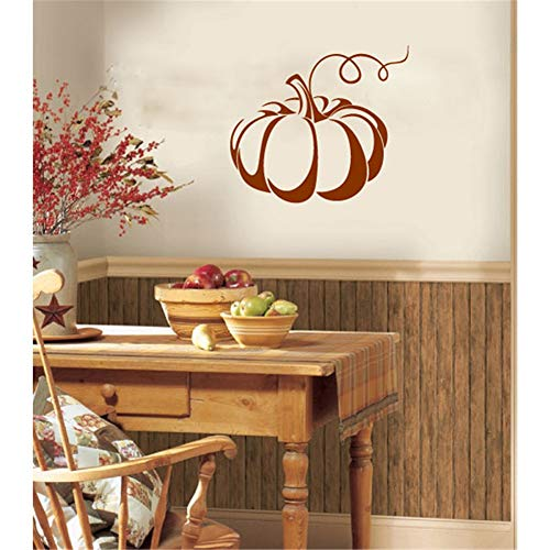 Quotes Wall Sticker Mural Decal Art Home Decor Halloween Decoration Wall Sticker Pumpkin for Nursery Kids Room Bedroom Living Room ()