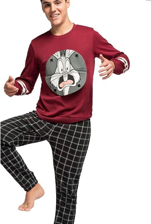 Pijama Hombre Largo Bugs Bunny: Amazon.es: Ropa