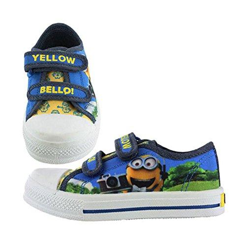 Minions amarillo Bello Kids Lienzo Plimsoll Entrenadores