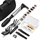 Amorly Mini Bike Repair Tool Kit Set - Multi-Function Bike Bicycle Cycling Mechanic Repair Tool Bag,Fit All Bike Outdoor Cycling Household Repairing