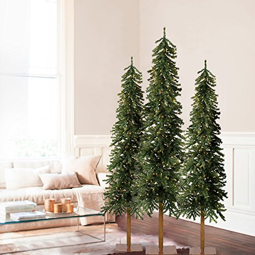 6', 6', 7' Set of 3 Tannenbaum Evergreen Artificial Christmas Tree