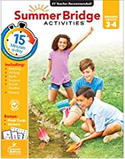 Summer Bridge Activities Workbook—Bridging Grades 3 to 4 in Just 15 Minutes a Day, Reading, Writing, Math, Science, Social Studies, Summer Learning Activity Book With Flash Cards (160 pgs)