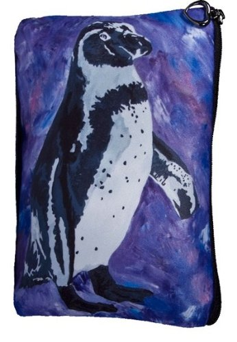 Penguin Cosmetic Bag, Zip-top Closer - Taken From My Original Painting, Southern Sweetheart Sweetheart Pocket