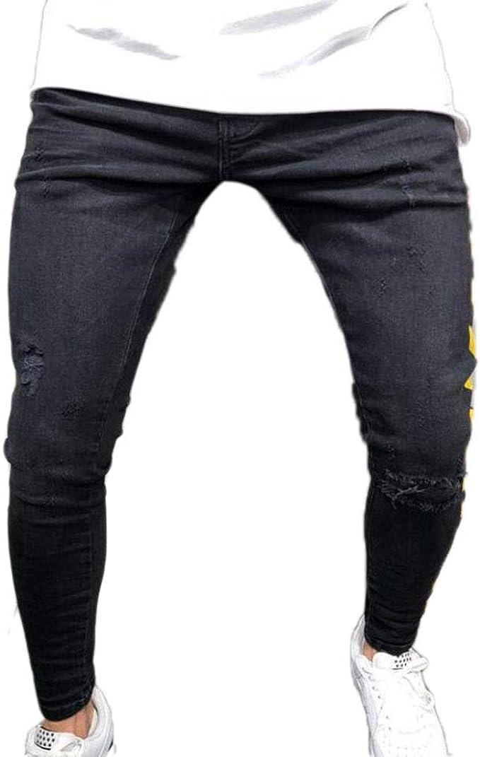 Pantalones de Mezclilla para Hombres con costado Amarillo, Jeans ...