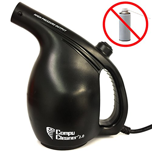 (EasyGo Compucleaner 2.0 - Electric High Pressure Air Duster - Computer Cleaner Blower - Keyboard Cleaner - Electronic Devices and Laptop Cleaner - Replaces Compressed Air Cans (Black))
