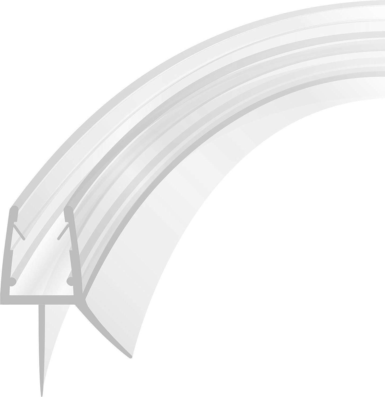 Display Dusche Abdichtung Streifen Rahmenlos Fenster Bad Dichtungsleiste 6//8mm