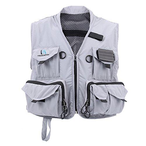 weight Mesh Fly Fishing Vest Medium/Large (Grey, Large) (Mesh Fly Fishing Vest)