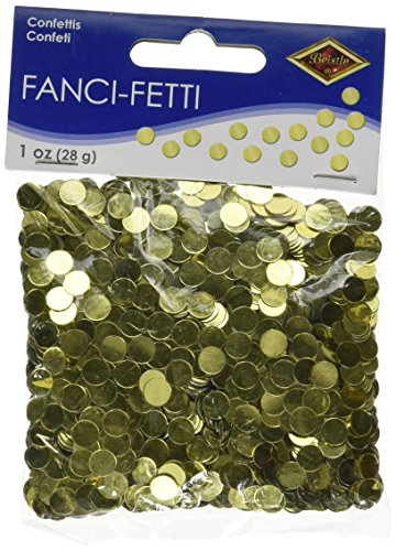 Beistle 50620-GD Fanci-Fetti Dots Party (Gold Confetti Dots)