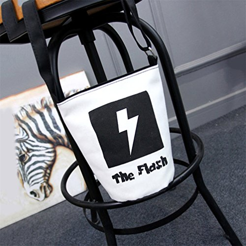 Gift Women Lightning Cartoon Fashion Bag Bucket Shoulder Crossbody Pattern Canvas super1798 4wZqF