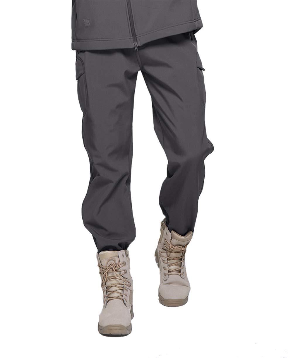TACVASEN Mens Tactical Military Pants Fleece Lining Softshell Pants Trousers XLTP-40