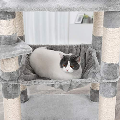 Songmics Cat Tree Condo Multi Level Kitty Play House Sisal