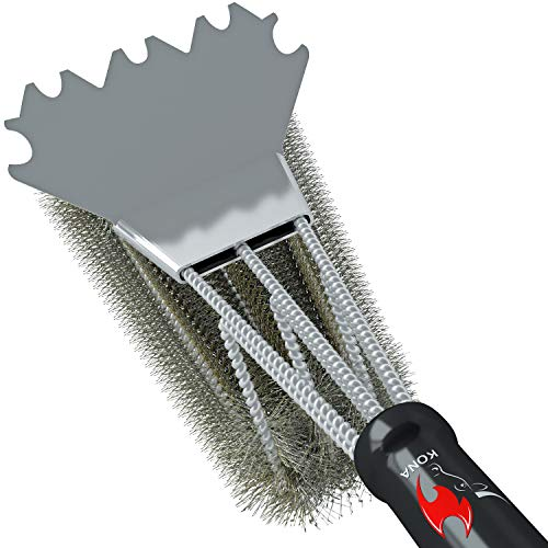 - Kona Best Scraper Grill Brush - 360° Clean 18