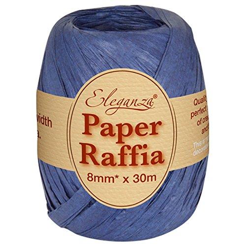 N0,19 colore: blu Navy 8 mm x 30 m Eleganza Paper Raffia per unampia gamma di progetti creativi e per pacchi regalo