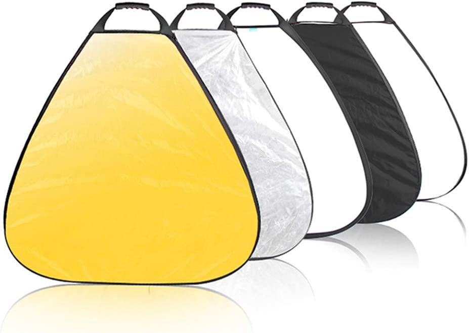 Selens 5-in-1 32 Inch Portable Triangle Reflector with Handle for Photography Photo Studio Lighting /& Outdoor Lighting