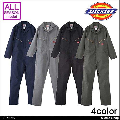 ディッキーズ 作業服 ツナギ服 21-48799 大きいサイズ 山田辰 B07BK3S5CG  NB ネイビーブルー XL