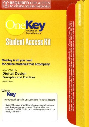 OneKey CourseCompass, Student Access Kit, Digital Design: Principles and Practices