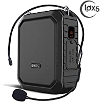 Voice Amplifier with Wired Headset Mic 18W Portable...