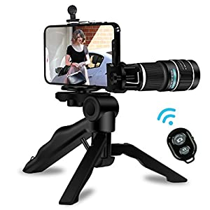 Phone Camera Lens,Kaiess Super Wide Angle & Macro Lens + Telephoto Lens + Fisheye Lens + Kaleidoscope Lens for iPhone X/8/7/6/6s Plus,Samsung and Most Smartphone
