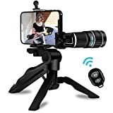 Cell Phone Telephoto Camera Lens,Kaiess 2018 Newest 20x Telephoto Lens+ Flexible Phone Tripod + Photo Holder + Wireless Remote Shutter for iPhone X 8 7 6s 6 Plus, Samsung,iPad and Smartphones