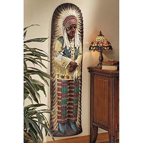 Design Toscano Chief Lone Raven Replica Turn-of-the-Century Advertising Wall