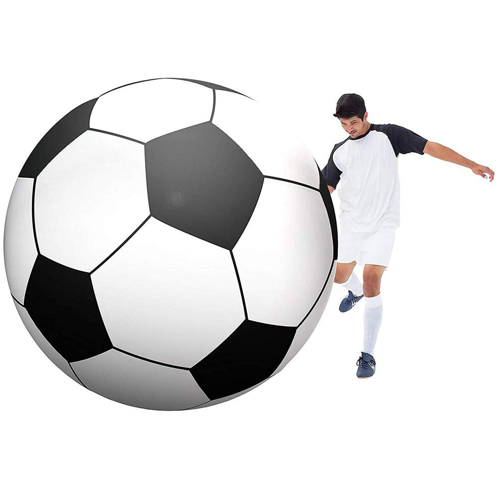 Creative Inflatable Big Soccer Beach Ball, Diameter 150cm PVC Big Ball, Beach Game Ball, Outdoor Water Toy by SUWIN