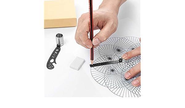 WNTHBJ Herramienta De Dibujo Multifunción, Herramienta De Dibujo Creativa De Regla De Brújula Magnética, Herramienta De Dibujo De Maquinaria De Construcción, Herramienta De Dibujo: Amazon.es: Hogar