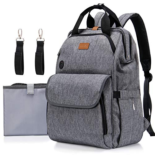 Diaper Bag Backpack, Lifewit Nappy Bag Hospital Bag with Changing Pad Multifunctional One-hand Opening and Closing Maternity Bag Travel Backpack for Mom&Dad