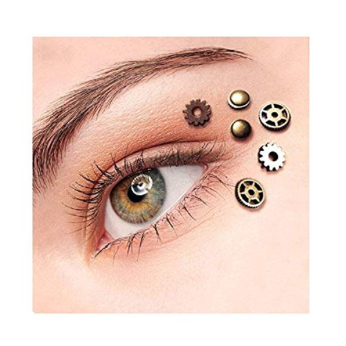 Punk Makeup For Halloween (Steampunk Gothic Eye Decals Womens Perfect For Steampunk Clothing Accessories Dress Up Clock Parts Steampunk Gears)